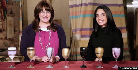 In one episode for Passover, Wolin and her assistant for the day, Candice Smith, demonstrate how to create a personalized Elijah's Cup, a Kos shel Eliyahu.