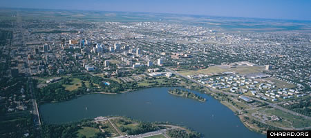 Regina, the capital city of the Canadian province of Saskatchewan.