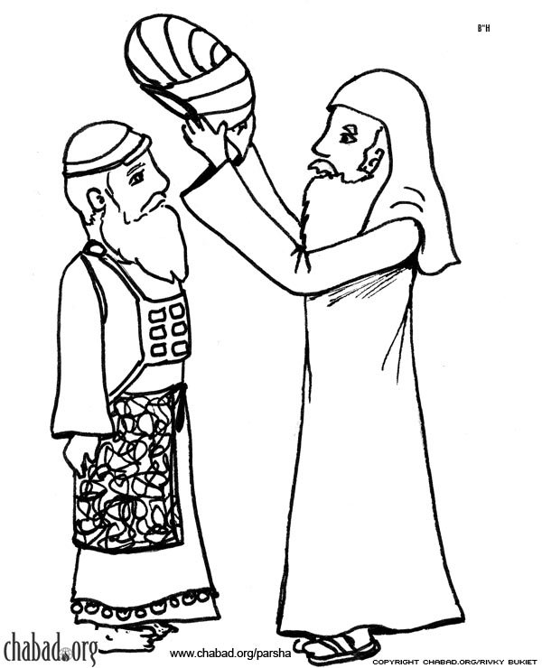 aaron and moses coloring pages - photo#12