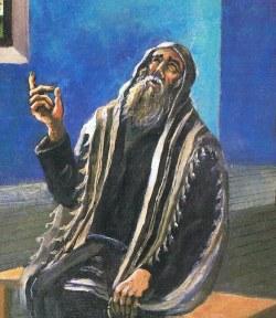 ''תפילה''. ציורו של הענדל ליברמן