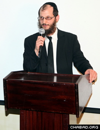 Rabbi Uriel Vigler, co-director of the Chabad Israel Center. (Photo: Bentzi Sasson)