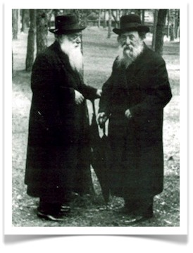 Rabbi Shimon Shkop with Rabbi Chaim Ozer Grodzenski