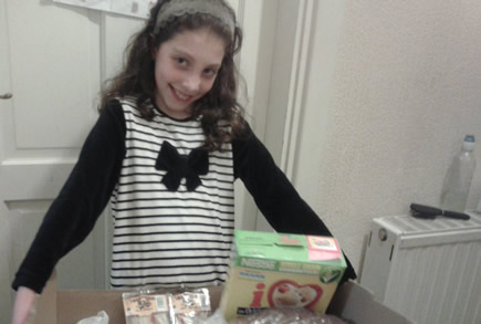 This is me helping with our food bank