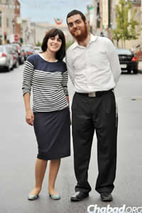 Rabbi Levi and Chani Druk, co-directors of Chabad of Downtown Baltimore.