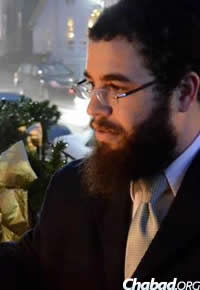 Rabbi Kushi Schusterman of Chabad of Harford County, Md.