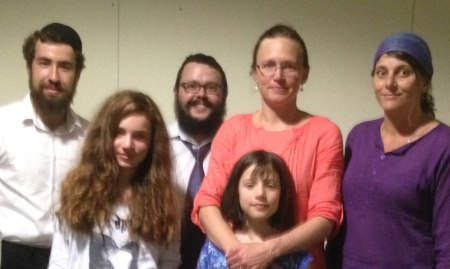 Evacuated from their Katoomba home, the Moria family is now staying at Chabad North Shore.