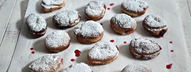 Recipe: Cranberry Jelly Sufganiyot (Doughnuts)
