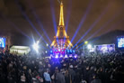 Eiffel Tower Menorah Lights Up the Parisian Night