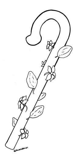 moses staff coloring pages - photo#27