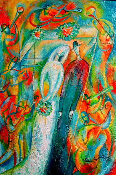 Jewish art for the soul jewish artists reflect for Israeli artists oil paintings
