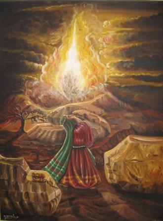 The Burning Bush Shemot Art Parshah