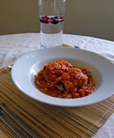 Eggplant and Beef Rollatini with Tomato Sauce