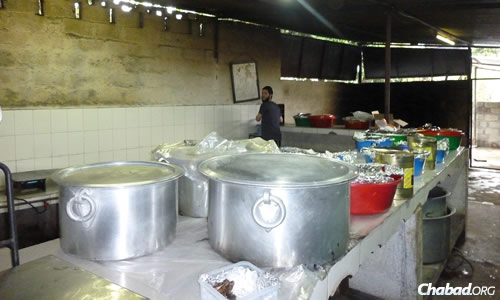 Lots of kosher food has to be delivered from abroad and cooked for the holiday. (File photo: Chabad of Nepal)