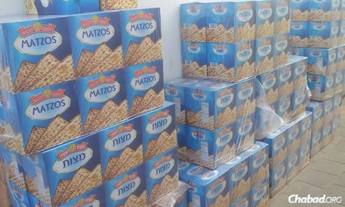 "Hundreds of kilos of matzah have already been brought to Nepal by ""Roving Rabbis"" from abroad and tourists who flew in for the holiday."