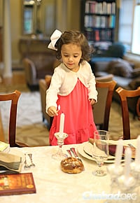 The Grossbaums were also celebrating the traditional first Shabbat candle-lighting of their 3-year-old daughter, Liba. (Photo: Mendel Grossbaum)