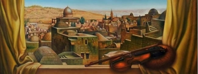 Jewish Art for the Soul: Window View of the Temple Mount