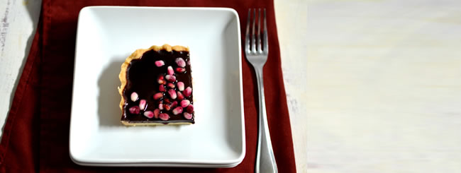 Kosher Recipes & Cooking: Chocolate Pomegranate Tart