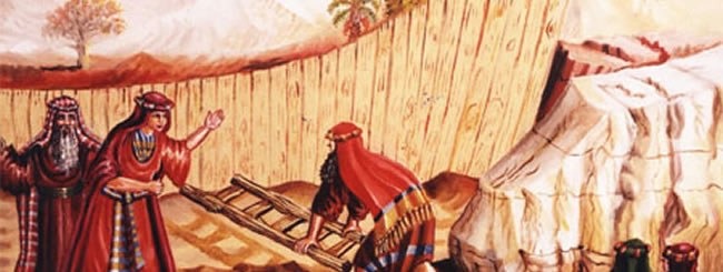 Noach Art: Noah Builds the Ark