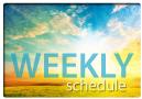 UNC Weekly Schedule