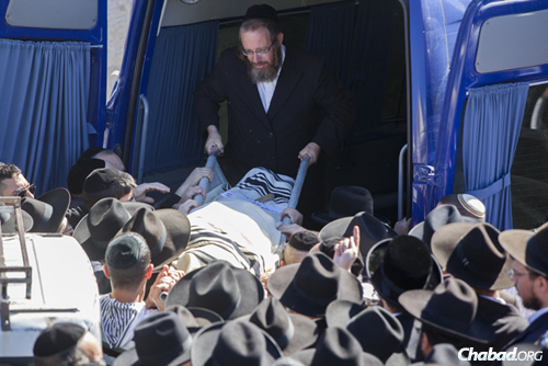 The funeral of Shalom Aharon Badani, a 17-year-old yeshivah student who died after a terrorist rammed his minivan into a crowd waiting for a train in Jerusalem. ( Photo: Yonatan Sindel/Flash90)