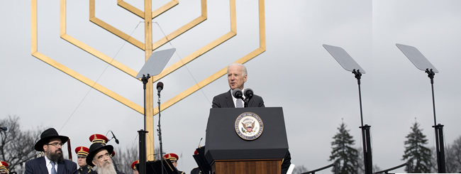 Holiday Watch: V.P. Joe Biden Cites Rebbe's Teachings; Explains How Jewish Values Are America's Bedrock