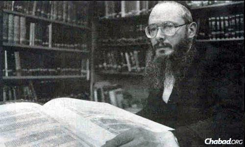 Rabbi Mondshine in his earlier years