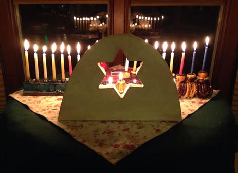 Chai's menorah