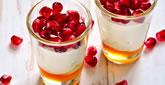 Pomegranate Honey Parfait