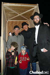 Rabbi Yonah Grossman, of Chabad Jewish Center of North Dakota in Fargo, N.D., drove to his neighboring state over Sukkot.