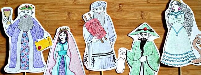 Craft It Jewish: Purim Characters