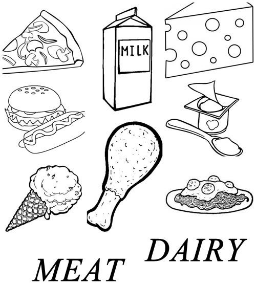 dairy products coloring pages - photo#43