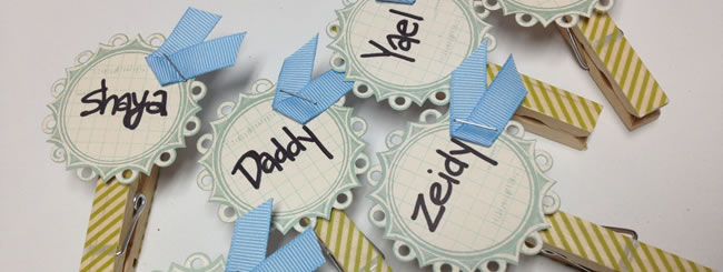 Home Decor & Crafting: Passover Craft: Seder Place Cards