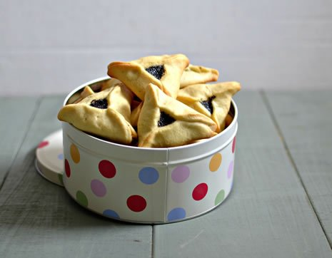 ... ' with great fanfare and, of course, the ever-popular hamantaschen
