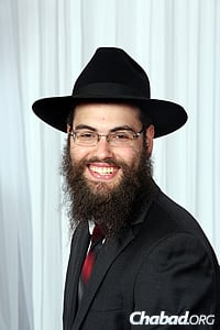 Papermaster's great-great-grandson Rabbi Menachem Orenstein returned to North Dakota to help out with Purim.