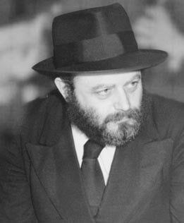 The Rebbe, Rabbi Menachem M. Schneerson, in 1951, soon after accepting leadership of the Chabad-Lubavitch movement