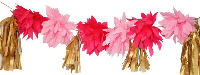 Craft It Jewish: Decorative Flower Garland