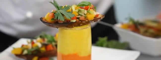 Блоги: Желто-красный гаспачо и брускетта с салатом