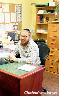 The rabbi is also co-director of the Chabad Jewish Center of Salem, Ore., with his wife, Fruma Ita.