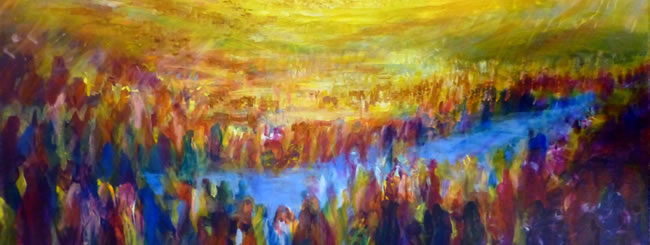 Matot Art: Crossing Over the Jordan River