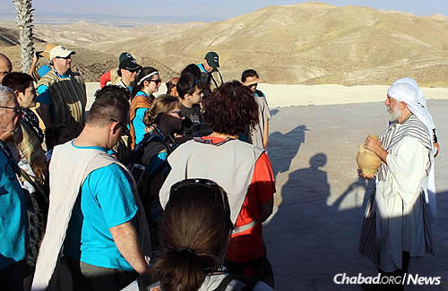 "At ""Abraham's Tent"" in the Judean Desert, where the group rode camels and soaked up some history."