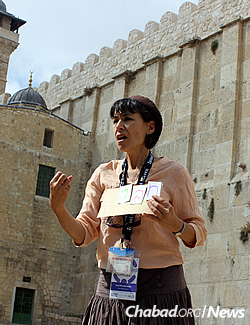The group's tour guide in Israel, Esti Herskowitz