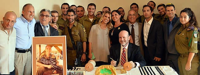 Jewish News: Torah Dedicated to 'Lone Soldier' Max Steinberg, Who Gave His Life Protecting Israel