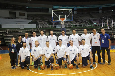 Team Israel at the International Deaf Basketball Champtionships in Taiwan
