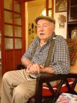 Aviv Keller in his home (Photo: Mrs. Shulamit Tilles)