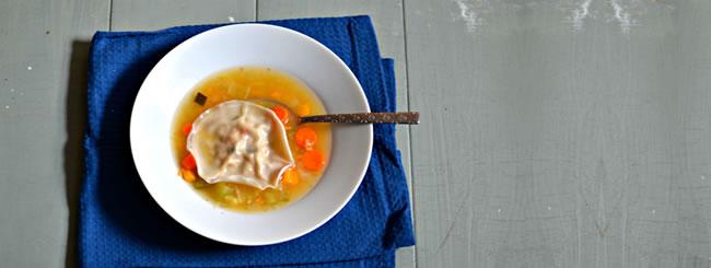 Cook It Kosher: Traditional Chicken Kreplach in Golden Chicken Soup