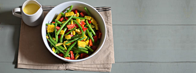 Cook It Kosher: Green Beans with Corn & Roasted Red Peppers