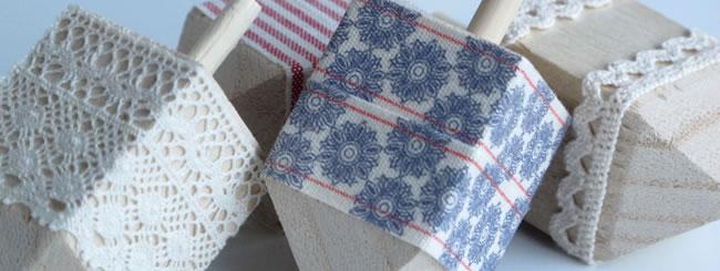 Craft it Jewish: Ribbon-Wrapped Dreidels