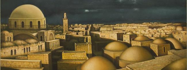 Jewish Art for the Soul: Art: Dawn Over Golden Jerusalem
