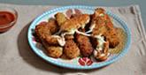 Fried Mozzarella Sticks for Chanukah
