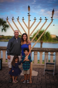 Chanukah at the lake 2015